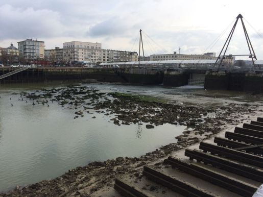 Low tide in the marina of Boulogne Sur Mer