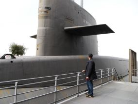 A nuclear submarine that was used during the second world war