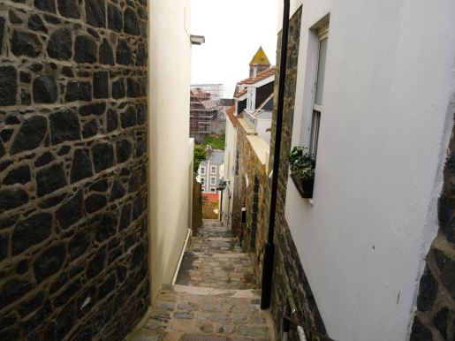 ...and narrow and steep stairs in St. Peter Port