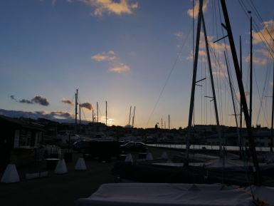 Sunset from the Yacht club