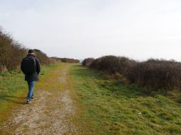 Walking in the natur reserve park of the village
