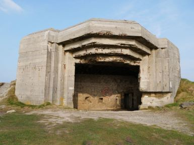 A canon bunker from the Second World War