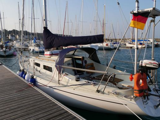 Birte and Nicos' boat