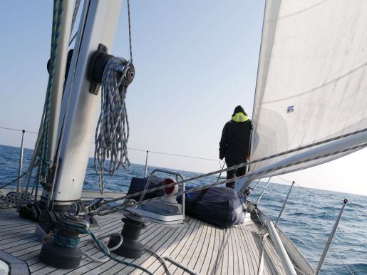 Sailing across the Bay of Biscay which took us 53 hours