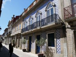 Azulejos (tiles) on every house almost