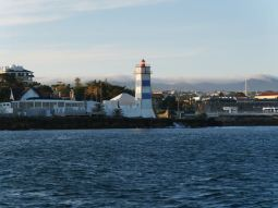 The lighthouse next to the marina of Cascais