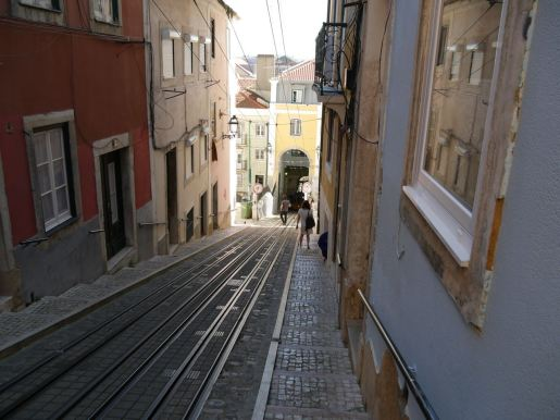 A lot of hills in Lisbon