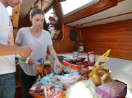 Stocking up food for the passage to Porto Santo