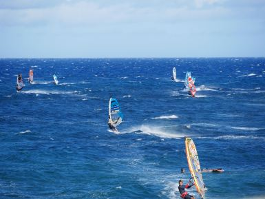 Watching the world cup in windsurfing in Pozo Izquierdo