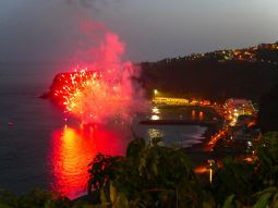 Fireworks to celebrate the virgen Carmen