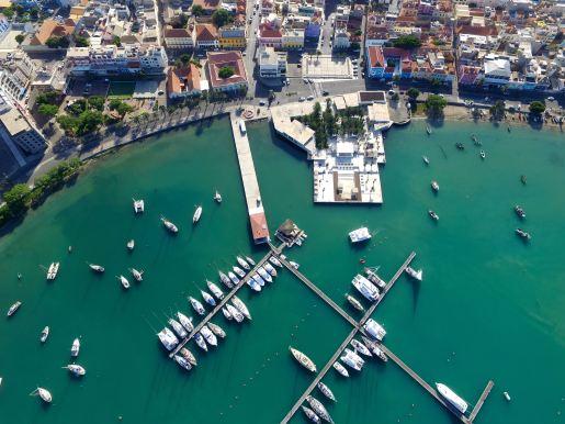 Mindelo Marina on Sao Vicente from above