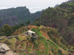The moutains of the island Santo Antao