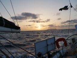 Sailing to the island Sao Nicolau
