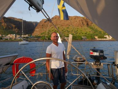 At anchor in Tarrafal on Sao Nicolau