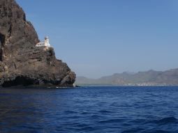 Lighthouse on the south side of Sao Vicente