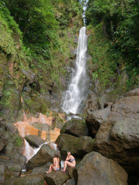 Bathing in hot springs