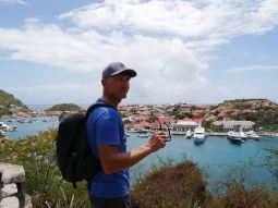 Overlooking the capital Gustavia.