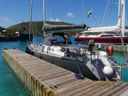 RAN moored in a marina for the second time since we arrived to the Caribbean.