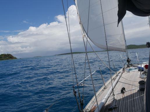 Sailing to Culebrita.