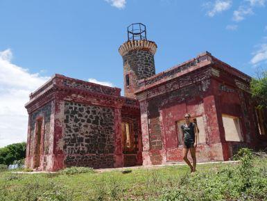 Old lighthouse in Culebrita.